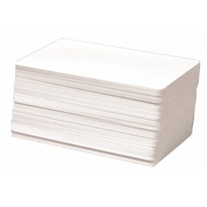 Plain Thermal PVC Printable Cards 100Pcs