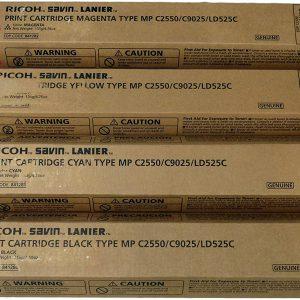 RICOH Aficio MP C2550 Genuine Toner Cartridge Set