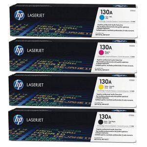 HP 130A 4-pack Cyan/Magenta/Yellow/Black Toner Cartridges