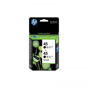 hp 45 2-Pack Black Original Ink Cartridges